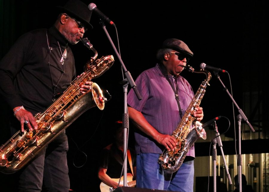 The Dirty Dozen Brass Band performed at WSC last Wednesday night. The successful band has collaborated with artists from Modest Mouse.