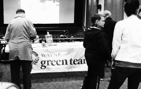 "The City of Wayne Green Team, WSC Green Team, and the A. Jewell Shcok Natural History Museum teamed up to present 'Tapped,"" a documentary from 2009. Before ""Tapped"" was shown, sponsors presented ways to reuse and recycle items."