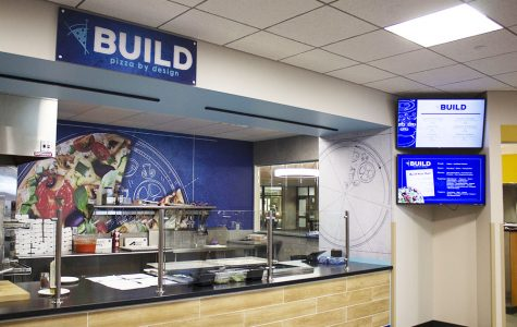 Wayne State College welcomed new vendors in Kanter Student Center and Conn Library. Build (above) allows students to create their own pizza.