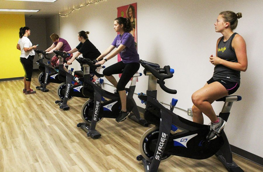 ●This works for all three- The WSC Recreational Center has expanded the opportunities it offers for student exercise classes to now include not only the spin class and Zumba, but also a pound class, growfit class, and strength training.