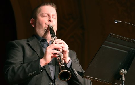 Dr. Karl Kolbech performs during a faculty recital on Feb. 13.