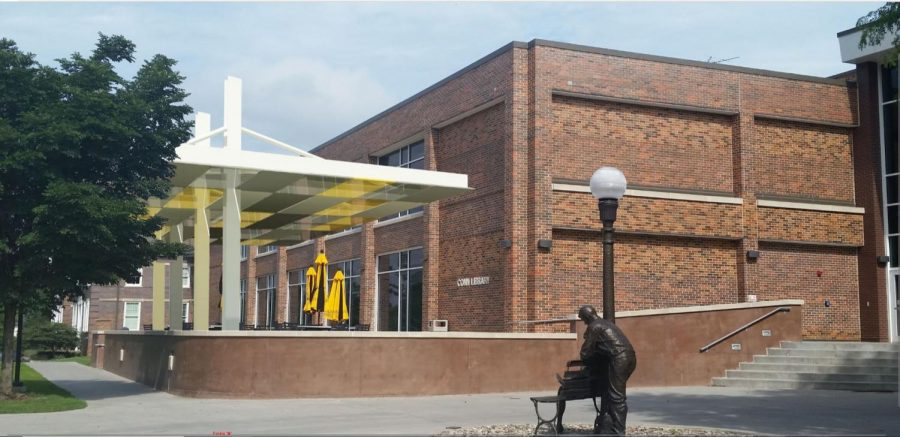 New library canopy aimed at increasing student comfort