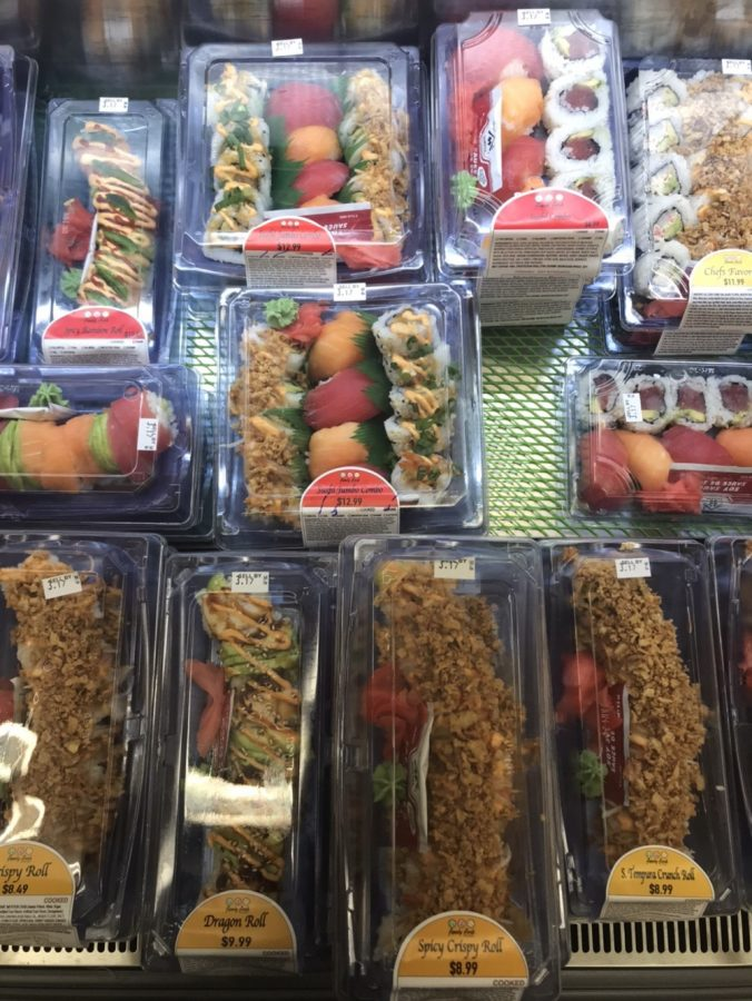 Pac 'N' Save offers a wide variety of sushi options. PHOTO BY ZAYNAB KOUATLI