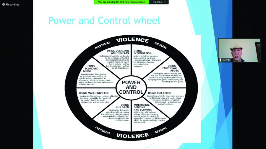 Scott Munsen shares a graphic breaking down the signs of dating violence